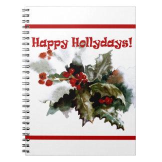 Cuaderno feliz del planeamiento de Hollydays, día
