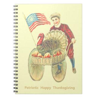 Cuaderno feliz patriótico de la foto de la acción