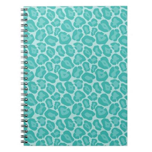 Cuaderno femenino del modelo del leopardo del trul