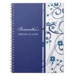 Cuaderno floral azul del planificador del boda