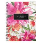 Cuaderno floral brillante del |