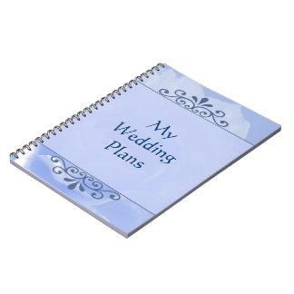 Cuaderno floral color de rosa azul del plan del bo