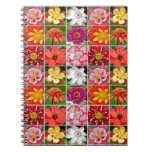 Cuaderno floral colorido de la impresión del colla