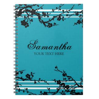 Cuaderno floral conocido de encargo del negro y de