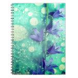 cuaderno floral de la acuarela