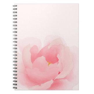 Cuaderno floral de la floración del Peony de la
