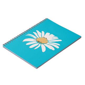 Cuaderno floral de la foto de la margarita de la