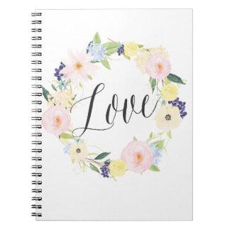 Cuaderno floral del amor de la guirnalda el | de