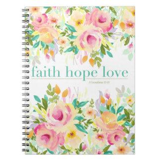 Cuaderno floral del amor el | de la esperanza de