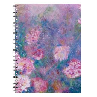Cuaderno floral del arte de los Peonies