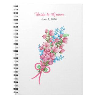 Cuaderno floral del boda del cenador de la