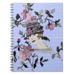 Cuaderno floral del camafeo