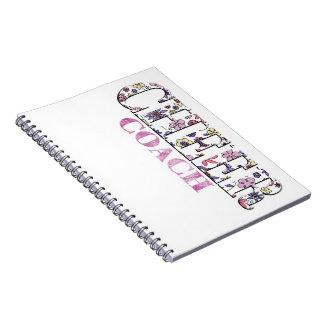 Cuaderno floral del coche de la alegría