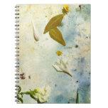 cuaderno floral del collage de la foto