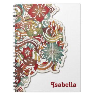 Cuaderno floral del estilo bohemio