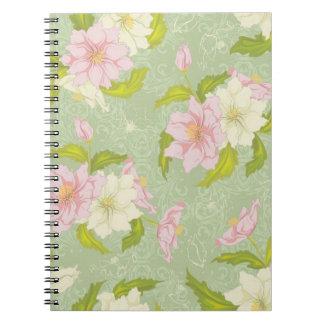 Cuaderno floral del jardín