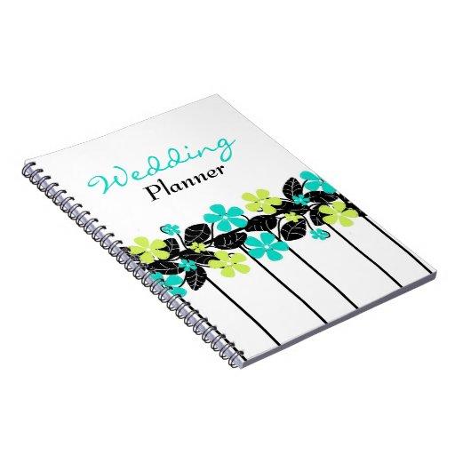 Cuaderno floral del planificador del boda de la ca