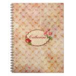 Cuaderno floral del vintage