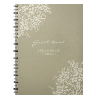 Cuaderno floral del vintage del libro de visitas d