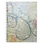 Cuaderno floral elegante