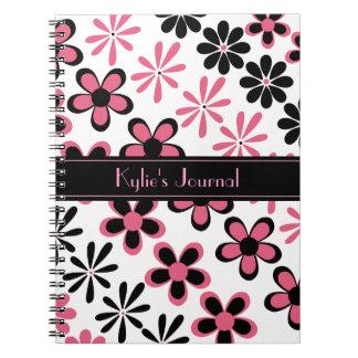 Cuaderno floral elegante del diario