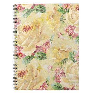 Cuaderno floral elegante lamentable