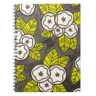 Cuaderno floral estilizado moderno