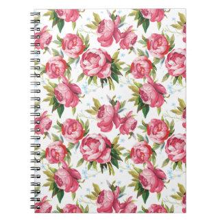 Cuaderno floral femenino