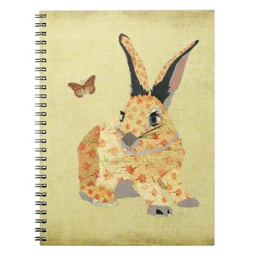 Cuaderno floral lamentable del conejito