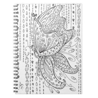 Cuaderno floral MADART del colorante de la