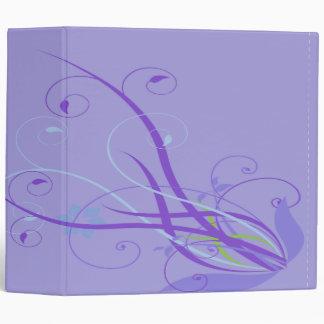 cuaderno floral púrpura del remolino