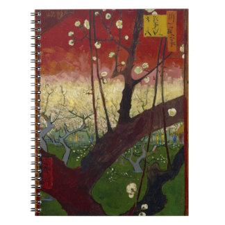 Cuaderno floreciente del árbol de ciruelo