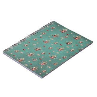Cuaderno, flores y cerezas spiral notebooks