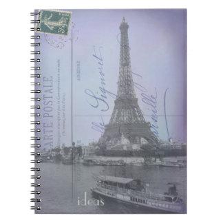 Cuaderno francés de la postal de la feria de mundo