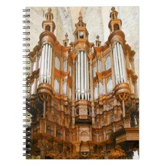 Cuaderno francés del órgano