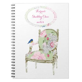 Cuaderno francés elegante lamentable de la silla