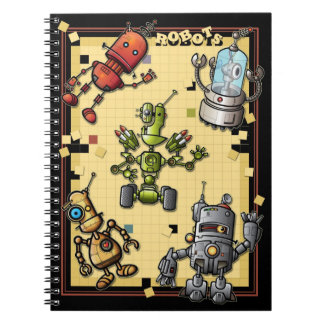 Cuaderno fresco de la cuadrilla del robot
