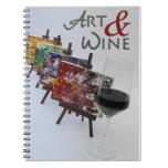 ¡Cuaderno fresco de la foto del arte y del vino!