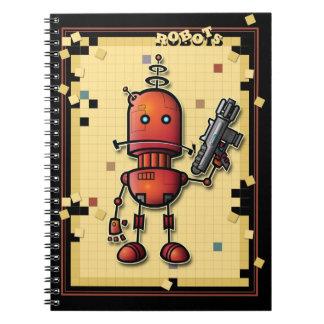 Cuaderno fresco de Sam del robot