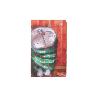 """Cuaderno """"Gato de tarde """" Funda Para Libreta Y Libreta Pequeña Moleskine"""