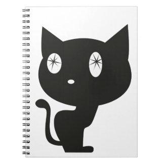 """Cuaderno """"Gato negro a los ojos estrellados """""""