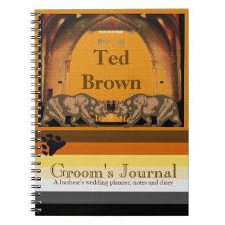 Cuaderno gay del boda del novio californiano del