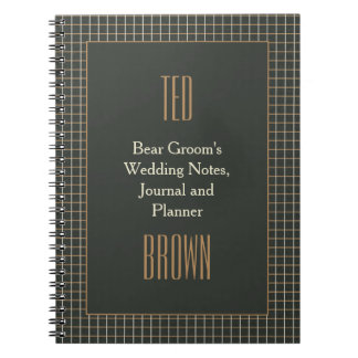 Cuaderno gay del boda del novio enmarcado con
