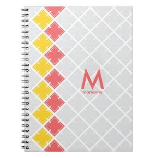 Cuaderno geométrico cuadrado del modelo del