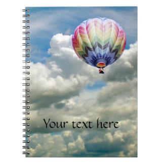 Cuaderno - globo del aire caliente