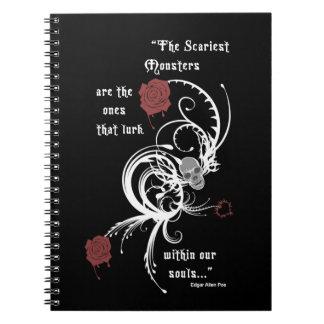 Cuaderno gótico asustadizo de Edgar Allen Poe