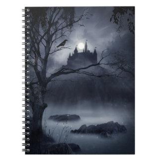 Cuaderno gótico de la fantasía de la noche