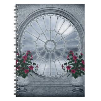 Cuaderno gótico de la ventana del rosetón