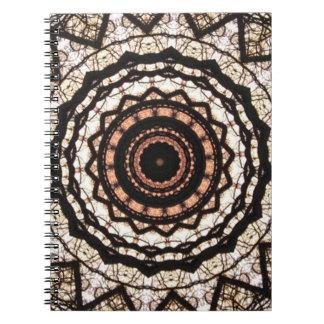 Cuaderno gótico del caleidoscopio del cordón