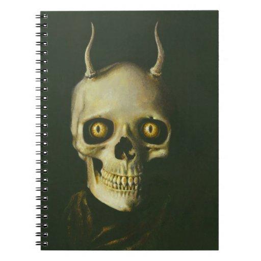 Cuaderno gótico del cráneo del diablo